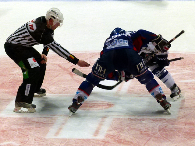 two ice hockey players