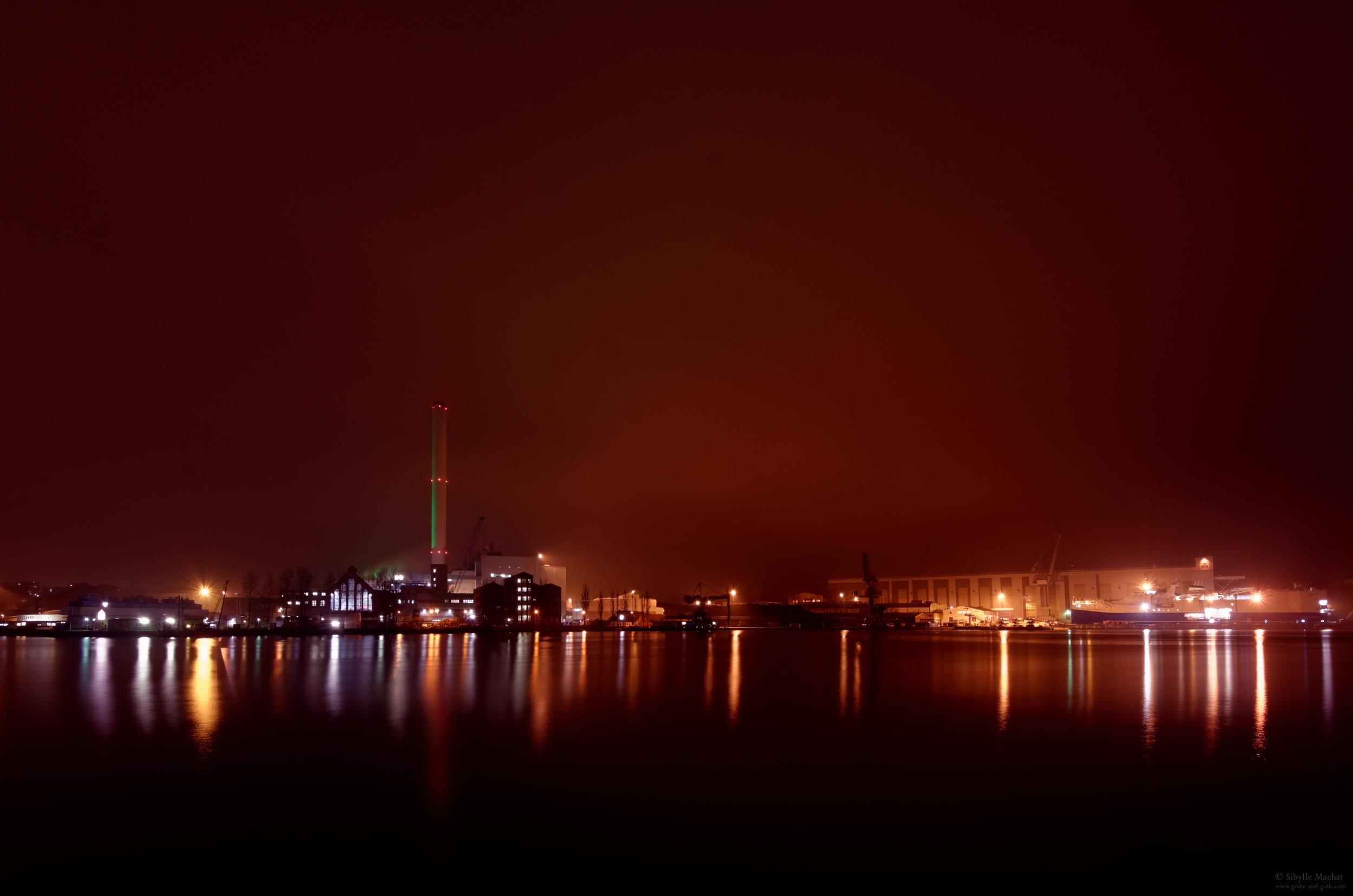 Flensburg at night
