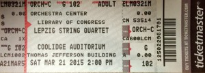 Leipzig String Quartet Ticket