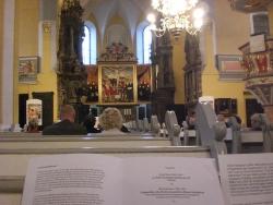 impromptu visit to an organ concert in a church in Weimar