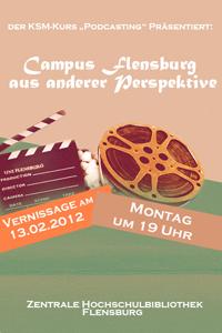 Podcasting Vernissage Flyer, by Silke Streichhahn