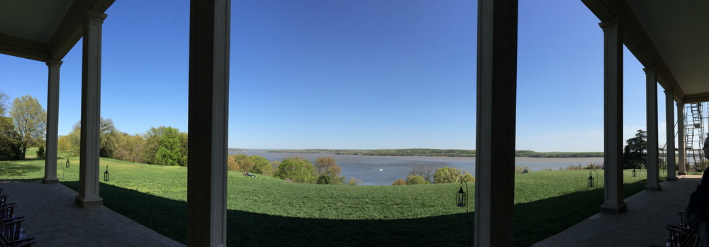 the view from George Washington's porch